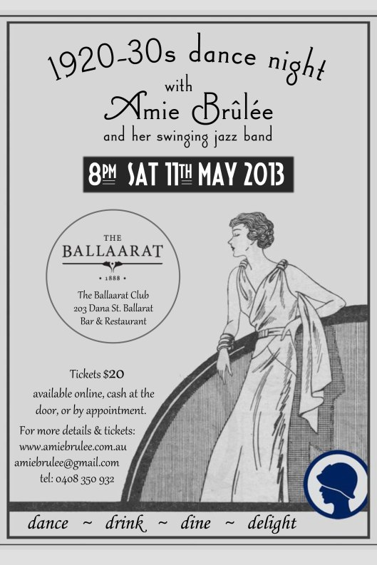 1920-30s dance night flyer
